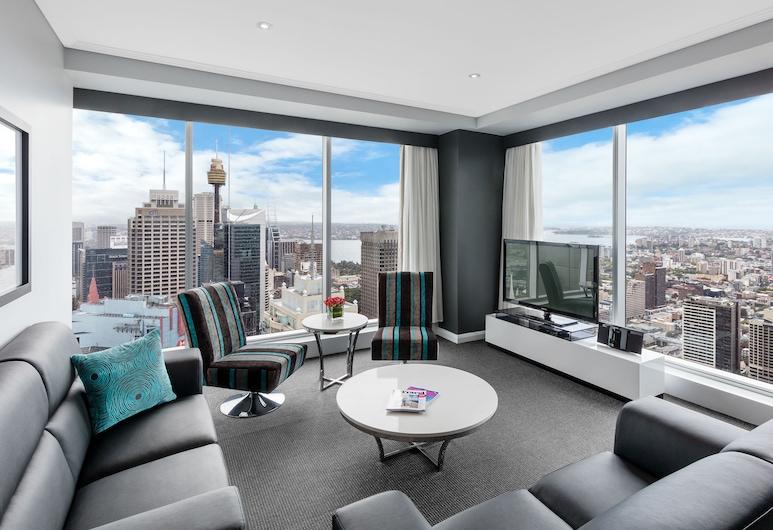 Meriton Suites World Tower, Sydney, Sídney, Suite, 3 habitaciones (Ocean), Zona de estar
