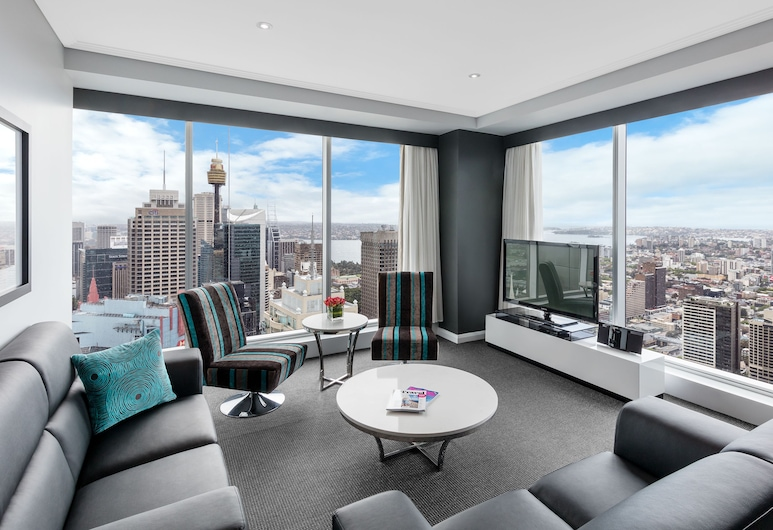 Meriton Suites World Tower, Sydney, Sydney, Svíta - 3 svefnherbergi (Ocean), Stofa