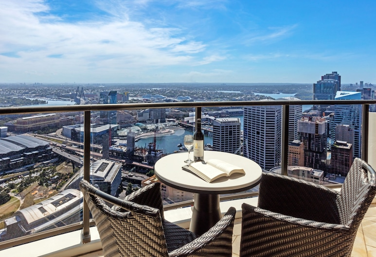Meriton Suites Kent Street, Sydney, Sydney, Penthouse, 3 kamar tidur, Pemandangan Balkon