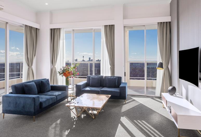 Meriton Suites Bondi Junction, Bondi Junction, Penthouse, 3 habitaciones (Cityside), Sala de estar