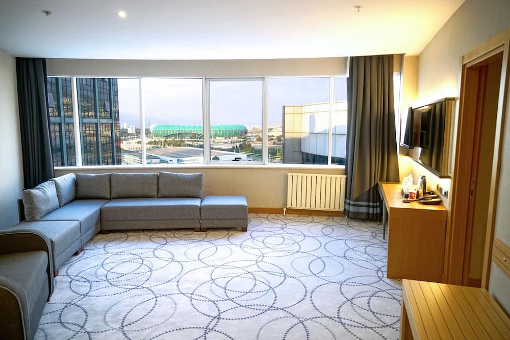 Luksusa numurs, 1 divguļamā karaļa gulta, smēķētājiem - Dzīvojamā zona