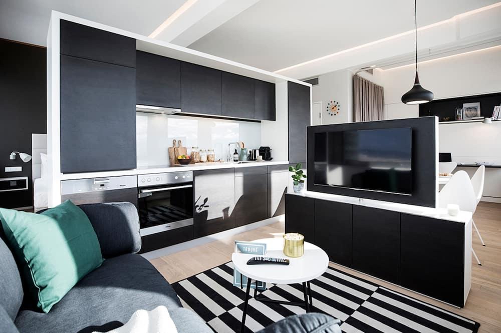Executive-lejlighed - 1 kingsize-seng - Opholdsområde