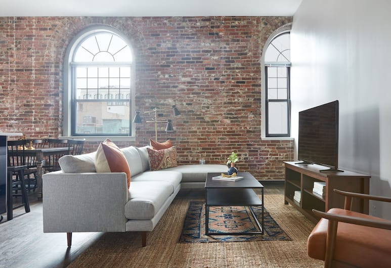Sonder - The Conrad, Boston, Suite Deluxe, 4 habitaciones, Sala de estar