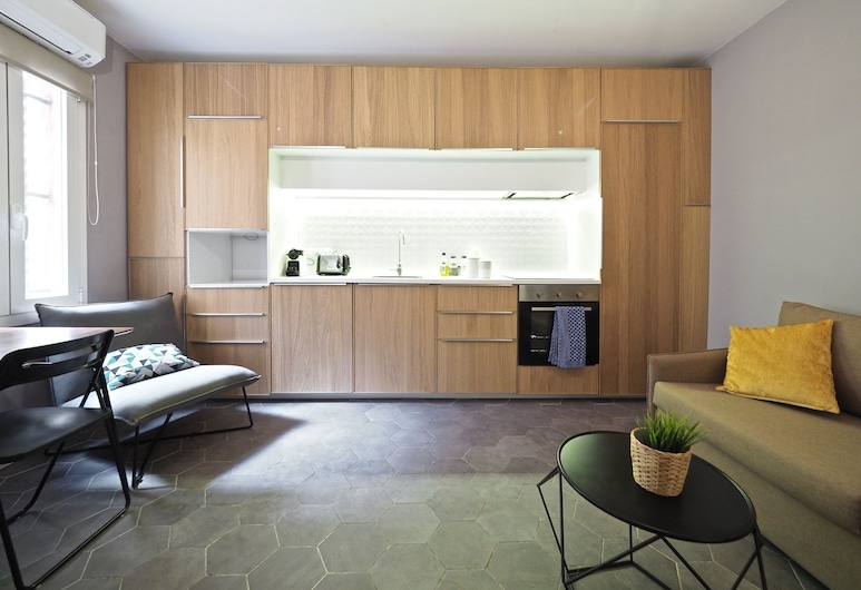Olala Torrassa Cozy Apartment, L'Hospitalet de Llobregat, Lägenhet - 1 sovrum - bottenvåning, Vardagsrum