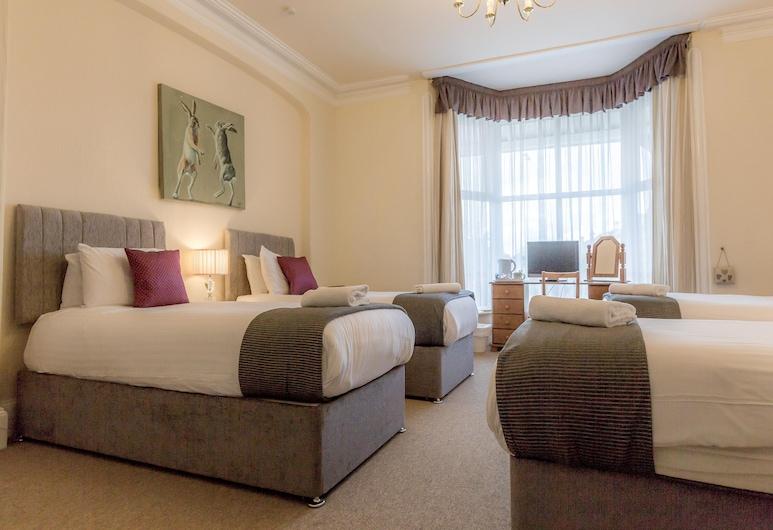 Lowdens Guest House, Taunton, Keturvietis kambarys, iš miegamojo pasiekiamas vonios kambarys, Svečių kambarys