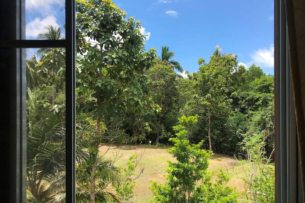 Standard-Dreibettzimmer, 3Einzelbetten, Nichtraucher, Gartenblick - Blick vom Balkon