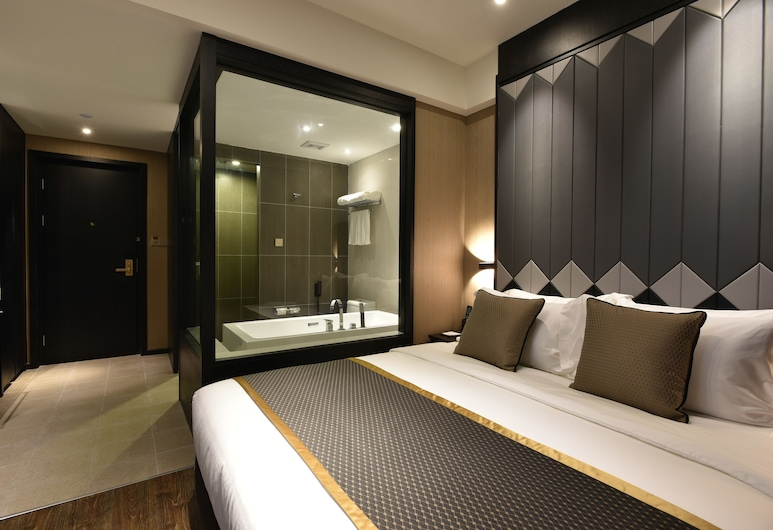 Shanghai-Deco Hotel(Pudong Airport/Disney /Free Trade Zone Area), Shanghai, Deluxe Queen Bed, Guest Room