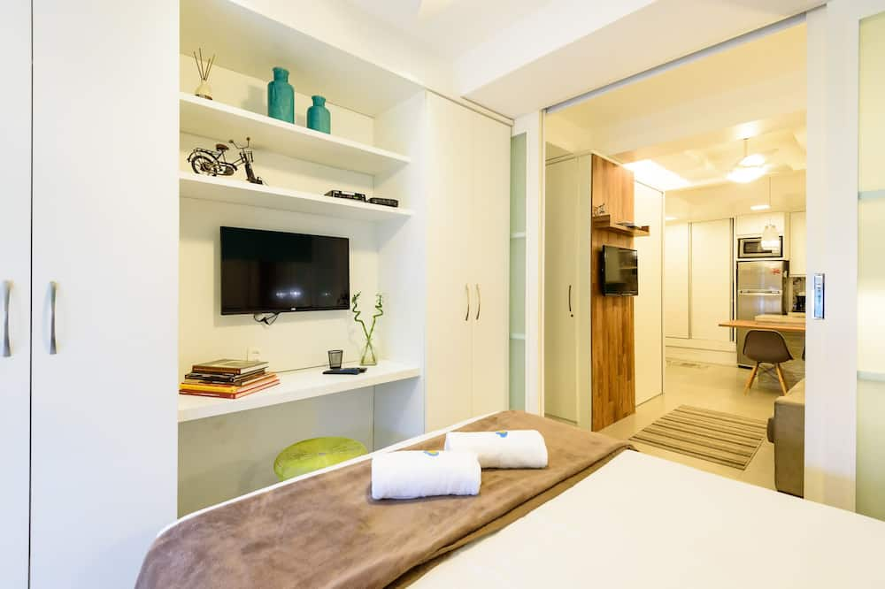 Appartement Confort, 1 chambre, cuisine, vue mer - Vue de la chambre