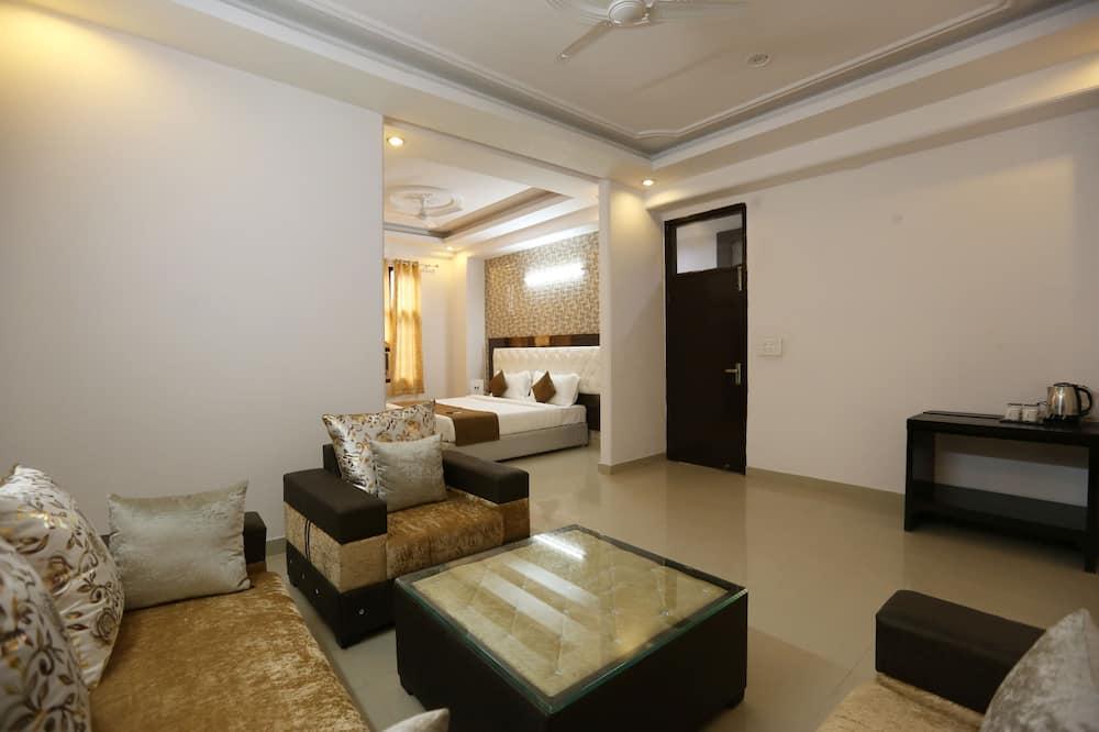 Deluxe kamer, 1 slaapkamer - Woonruimte