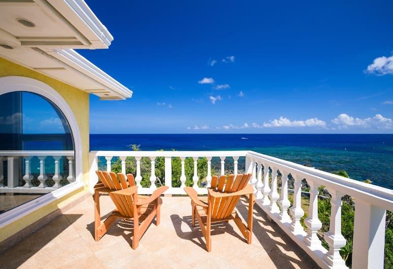 Yellow Bird, Roatan, Ház, 4 hálószobával, kilátással az óceánra, Terasz/udvar