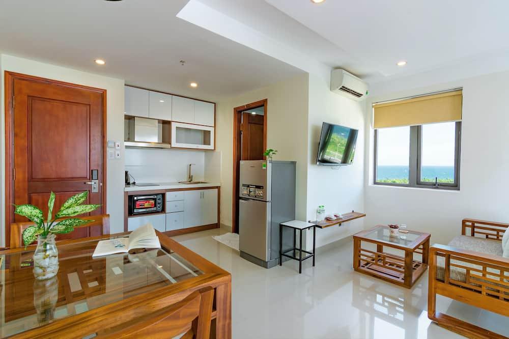 豪華開放式客房, 部分海景 - 客廳