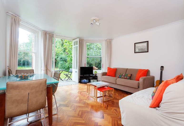 Veeve - Belsize Beauty, London, Apartment, 1 Schlafzimmer (Maresfield Gardens, Hampstead), Wohnbereich