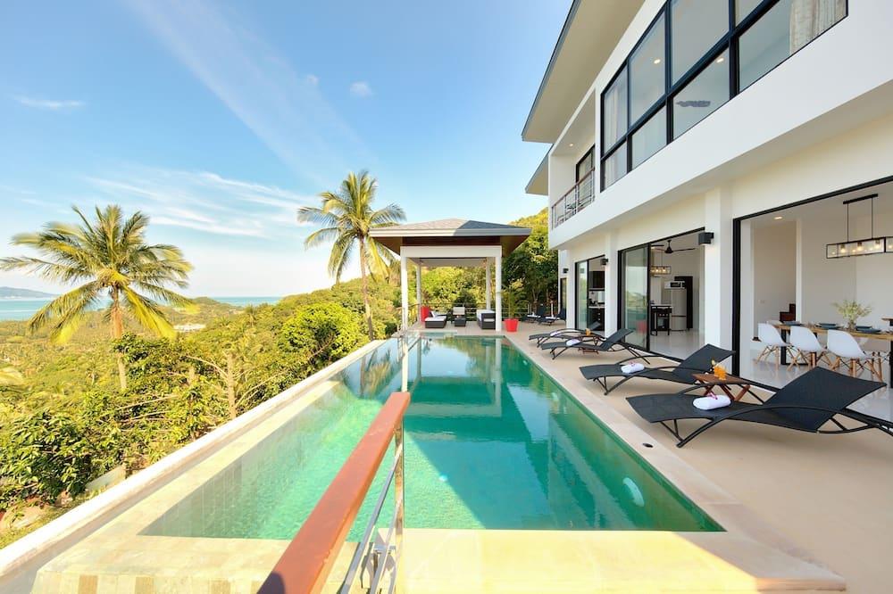 Luxury-Villa, 4Schlafzimmer, eigener Pool, Meerblick - Außenpool