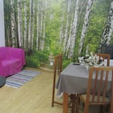 Basic Single Room, 1 Single Bed, Patio - Living Area