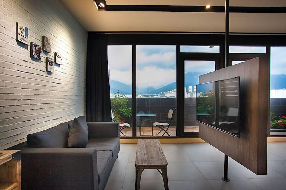 Deluxe dubbelrum - balkong (VIP) - Vardagsrum