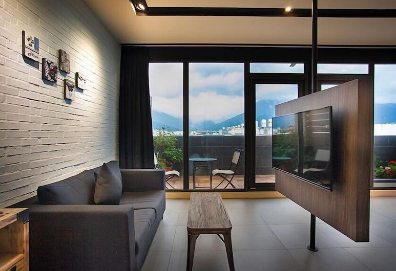 ManManBnB, Ji'an, Habitación doble Deluxe, balcón (VIP), Sala de estar