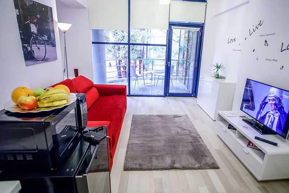 Deluxe Apartment, 1 Bedroom, Terrace - Ruang Tamu