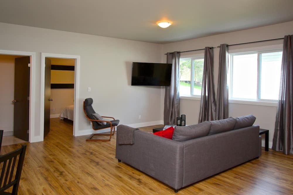 Standard lakás, 1 hálószobával, teraszos udvar (5) - Nappali rész
