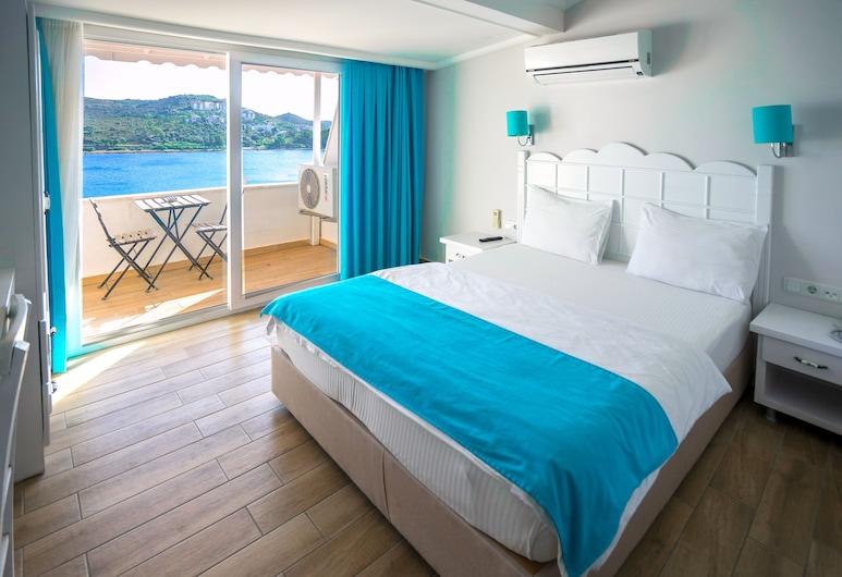 Bora Hotel, Datça, Standard Tek Büyük Yataklı Oda, Deniz Manzaralı, Oda