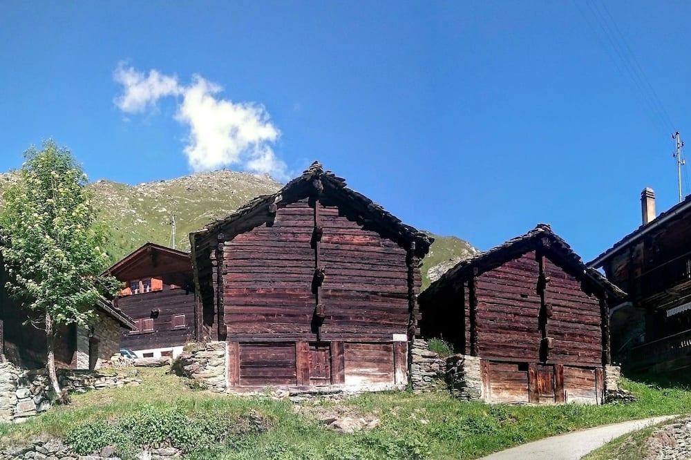 Tomannsrom – classic, 2 enkeltsenger, utsikt mot fjell, ved fjell - Utsikt mot gårdsplass