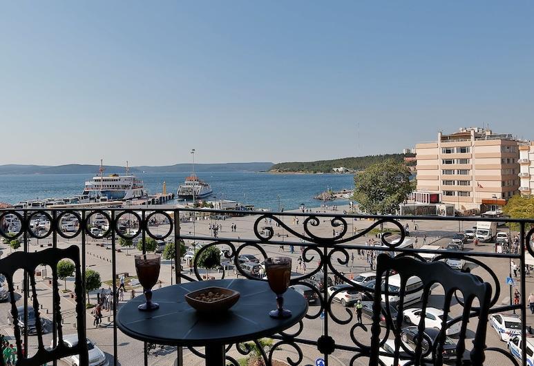 Kule Hotel, Çanakkale, Habitación Deluxe, balcón, vistas al mar, Balcón