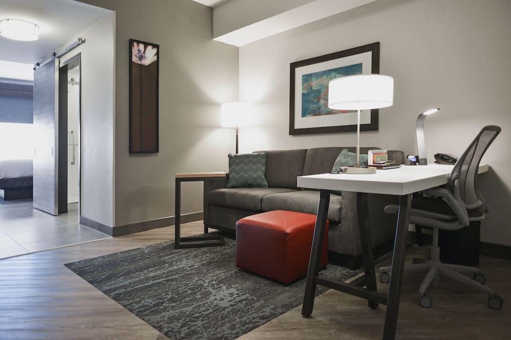 Apartmán, 1 extra veľké dvojlôžko, bezbariérová izba (Mobility & Hearing, Roll-in Shower) - Obývacie priestory