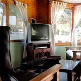 Cabaña familiar, 2 habitaciones, vista a la montaña - Sala de estar