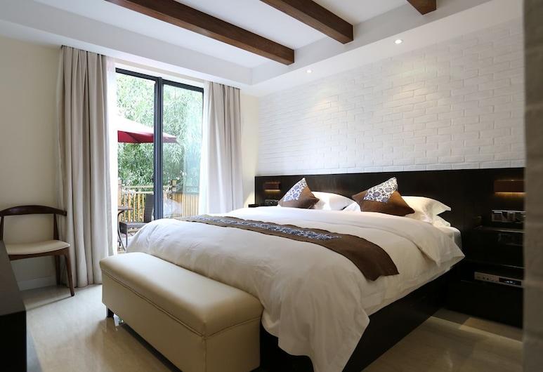 Hangzhou Xihu Tea Villa. Tea, Hangzhou, Pokoj typu Premium, výhled do zahrady, Pokoj