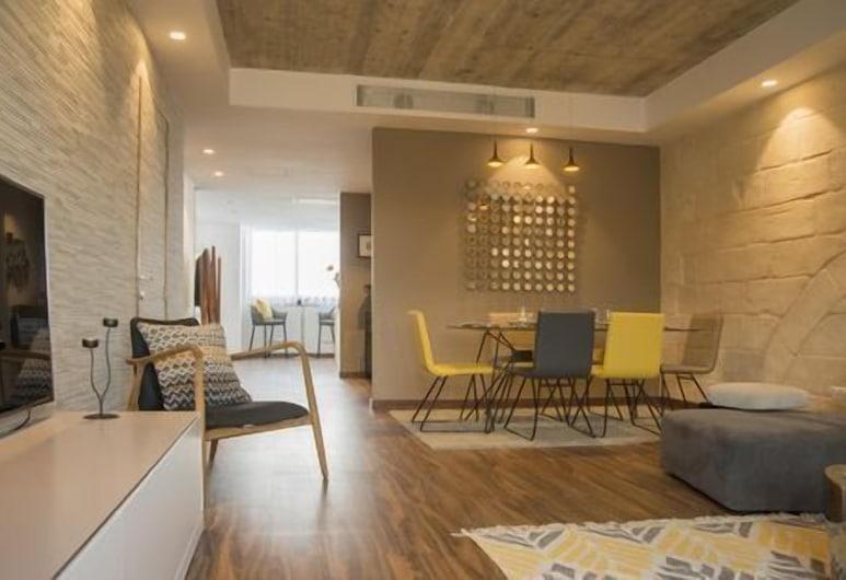 Vallettastay Apartments, La Valeta, Penthouse de lujo, 2 habitaciones, vista al mar, con vista al mar, Sala de estar