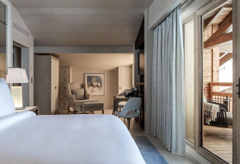 Four Seasons Hotel Megeve, Megeve, Soba, 1 king size krevet (Prestige), Soba za goste