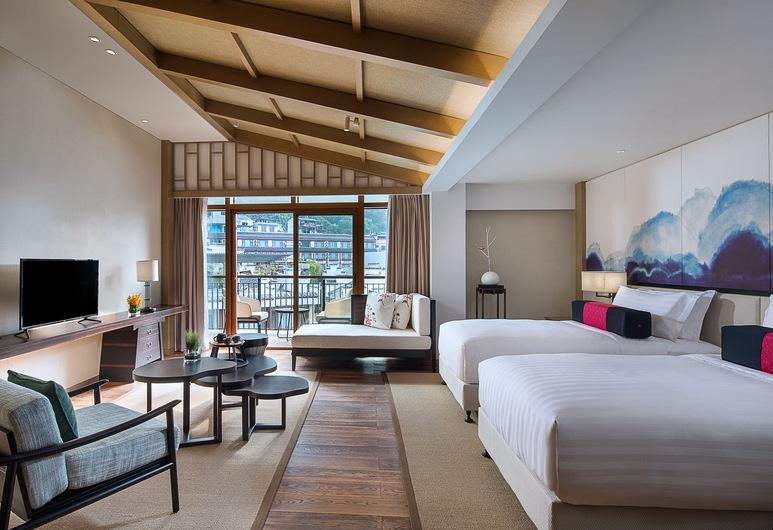 アマリ ヤンシュオ グイリン (陽朔益田阿瑪瑞酒店), 桂林, ジュニア スイート シングルベッド 2 台, 部屋