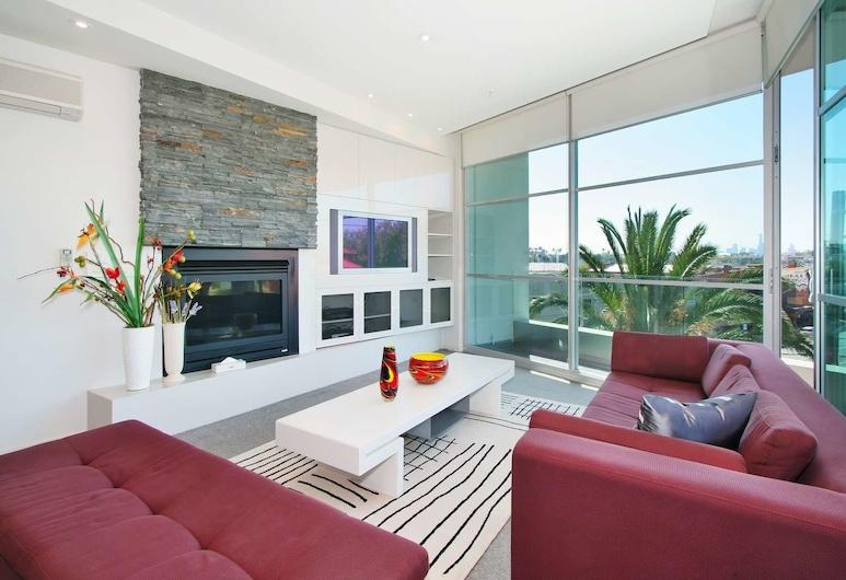 Penthouse St Kilda Style, St Kilda, Apartment, 3 Bedrooms, Living Area