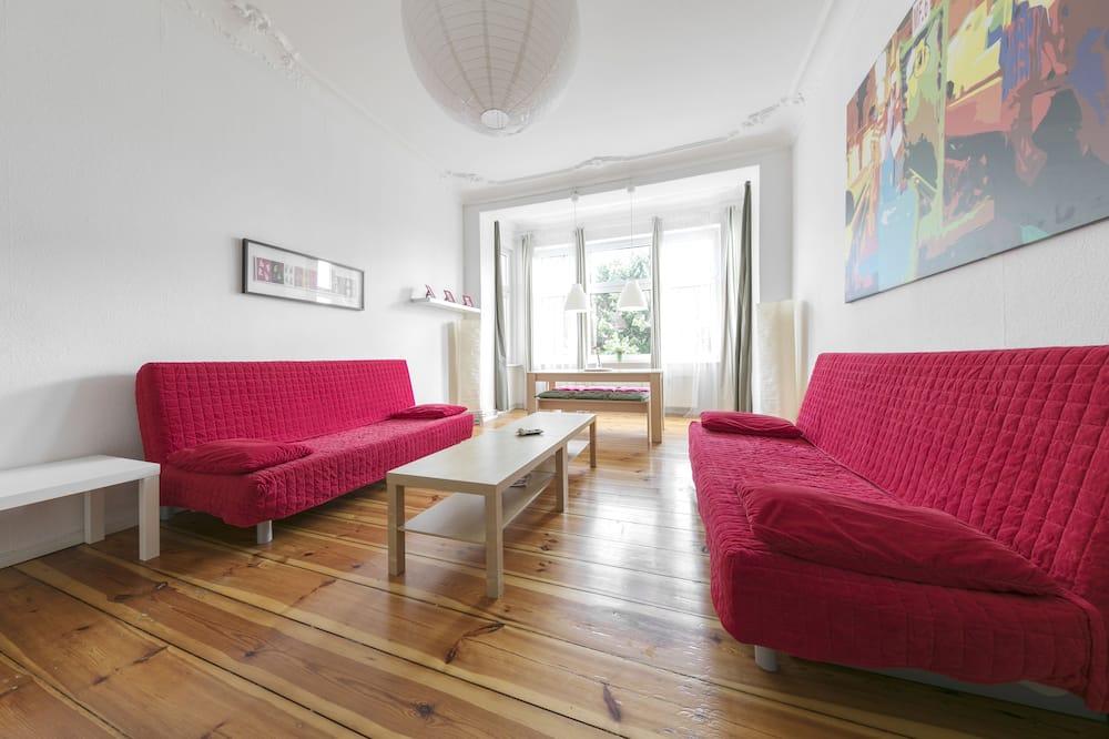 シティ アパートメント 1 ベッドルーム - リビング エリア