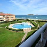 Appartement Familial, 2 chambres, accès piscine, vue mer - Balcon