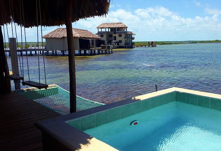 Lina Point Belize Overwater Resort, San Pedro, Honeymoon Bungalow, 1 King Bed, Private Pool, Ocean View, Terrace/Patio