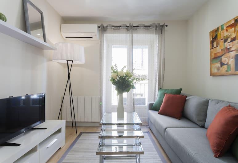 Dobo Rooms - Relatores III, Madrid, Apartment, 1 Schlafzimmer, Wohnzimmer