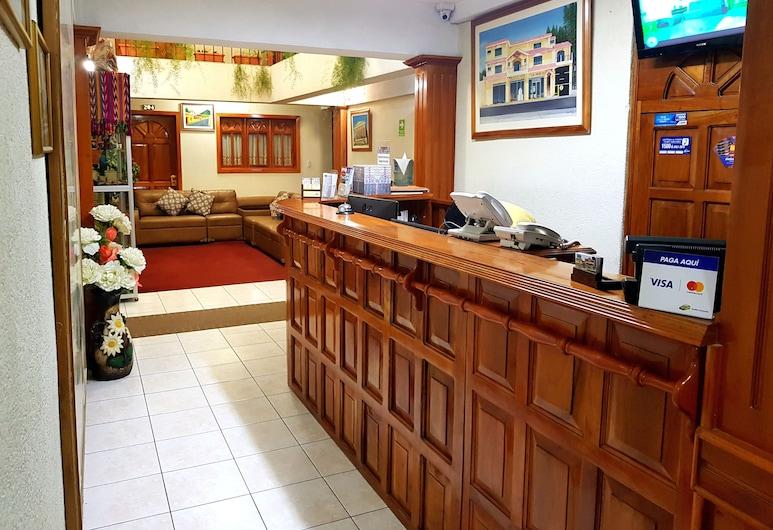 美洲酒店, 克薩爾特南戈, 櫃台