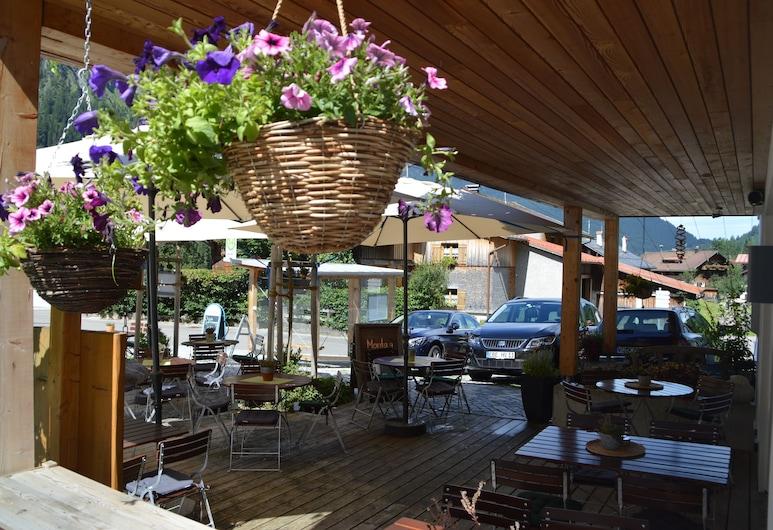 Bergsteiger-Hotel Grüner Hut, Bad Hindelang, Terraza o patio