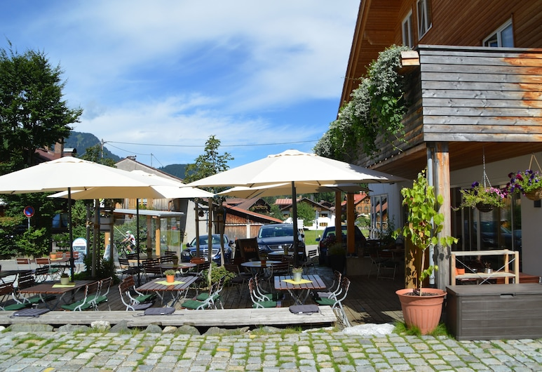 Bergsteiger-Hotel Grüner Hut, Bad Hindelang, Terrasse/Patio