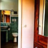 חדר דה-לוקס זוגי, מרפסת, נוף להר - חדר רחצה