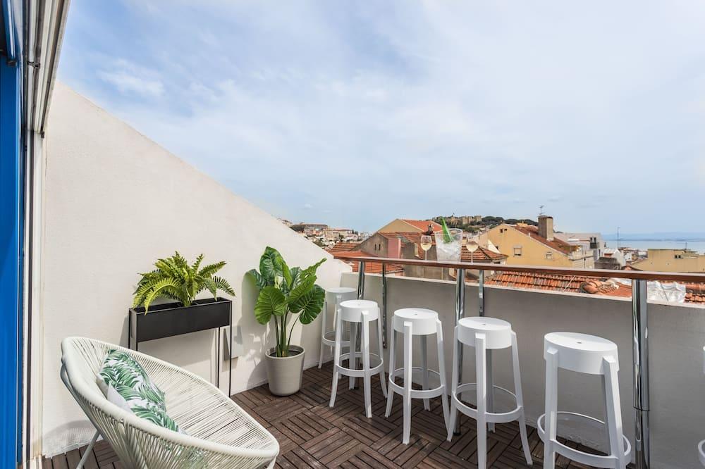 Penthouse, 3 kamar tidur, teras, pemandangan sungai - Foto Unggulan