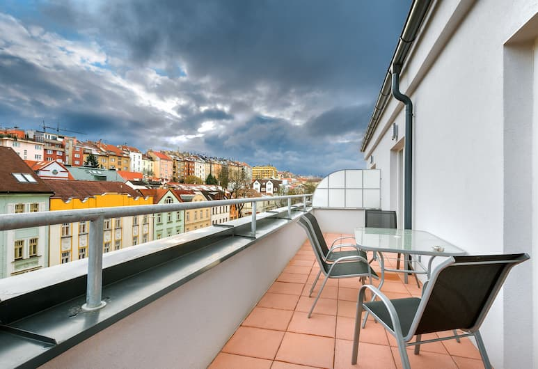 Downtown Suites Belohorska, Prague, Exclusive Penthouse, 2 Bedrooms, Terrace, City View, Terrace/Patio