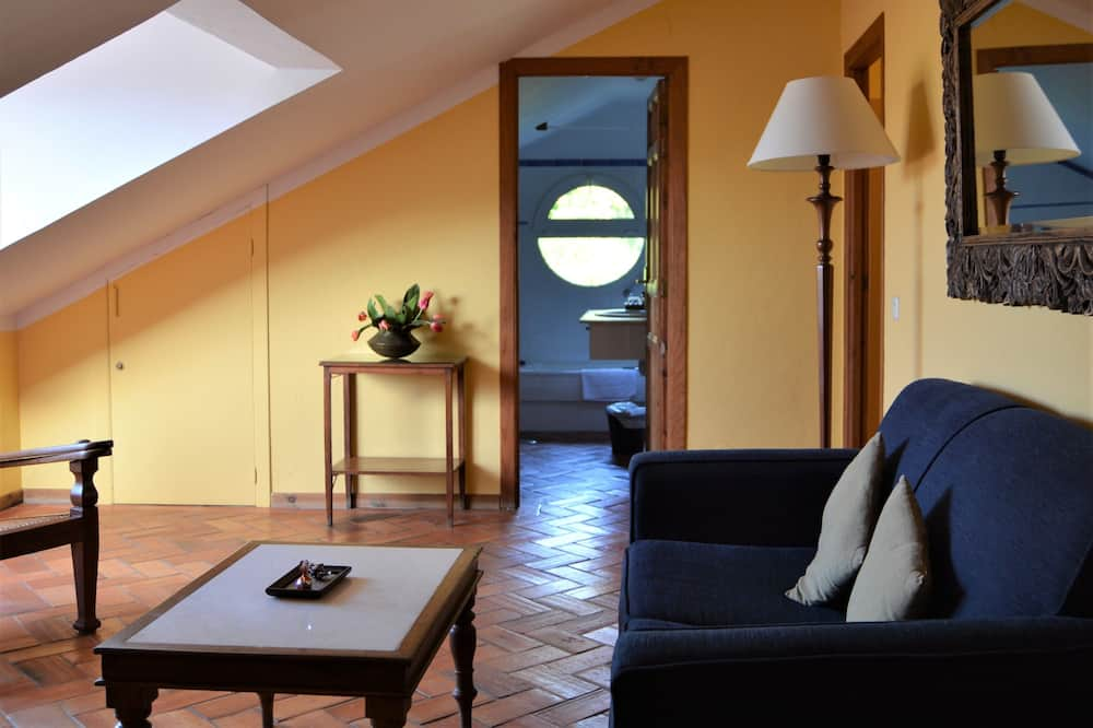 Szoba kétszemélyes ággyal, kapcsolódó szobák (Living room) - Nappali