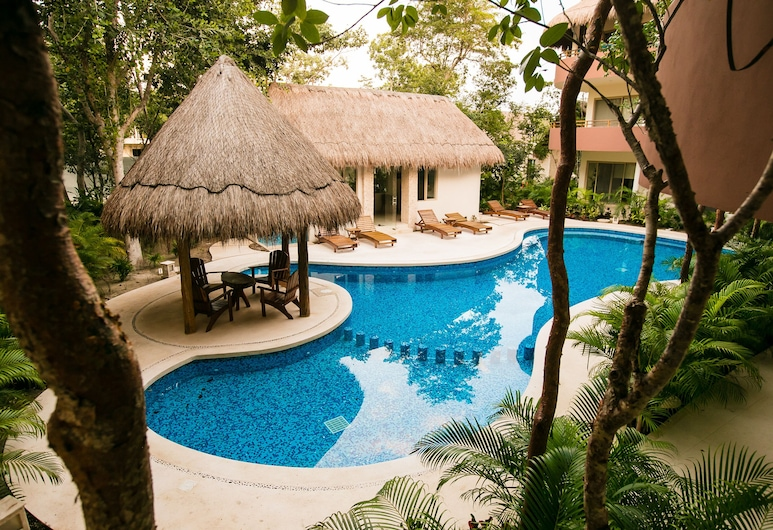 Tulum 2BR Aldea Zama Penthouse Condo With Private Rooftop Patio And Spa, Tuluma, Baseins