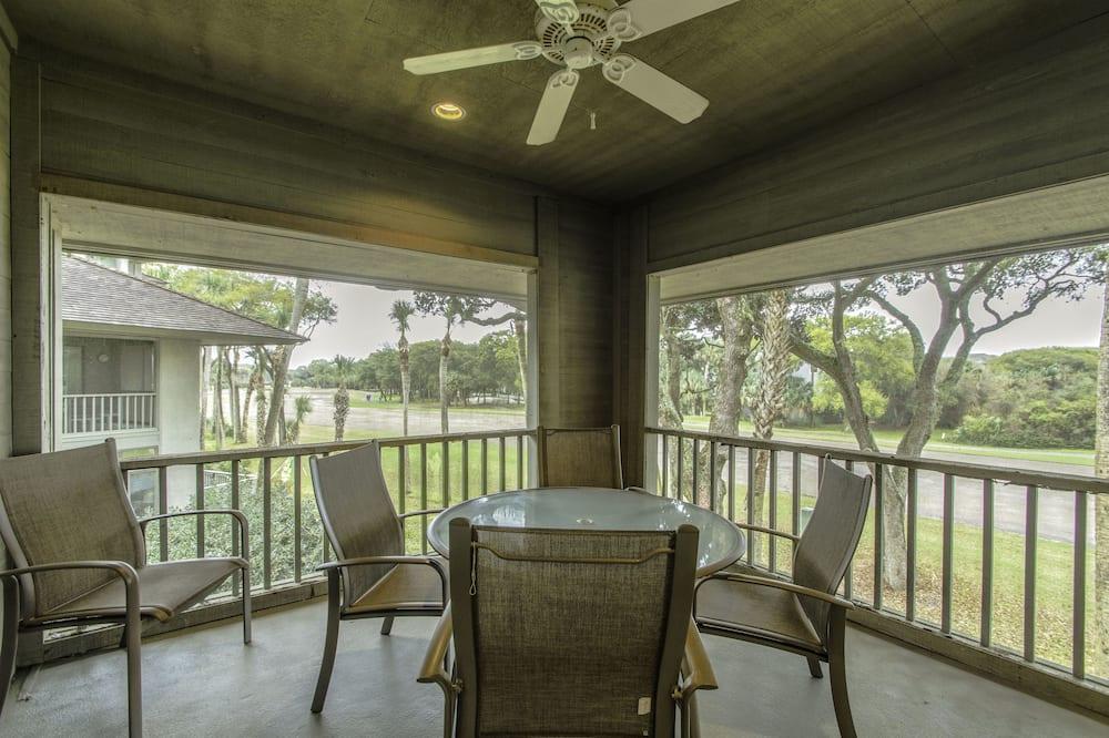 Vila, 3 spavaće sobe, balkon, pogled na golf igralište (4989 Turtle Point Villa) - Balkon