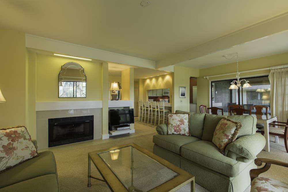 Vila, 3 spavaće sobe, balkon, pogled na golf igralište (4989 Turtle Point Villa) - Dnevni boravak