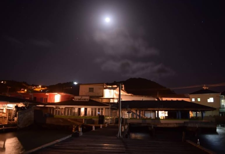 The Clifton Hotel, Union Island, Hotel Front – Evening/Night