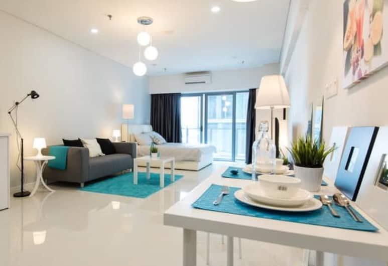 肯尼思夏季套房飯店, 吉隆坡, 開放式客房, 2 張加大雙人床, 陽台, 客廳