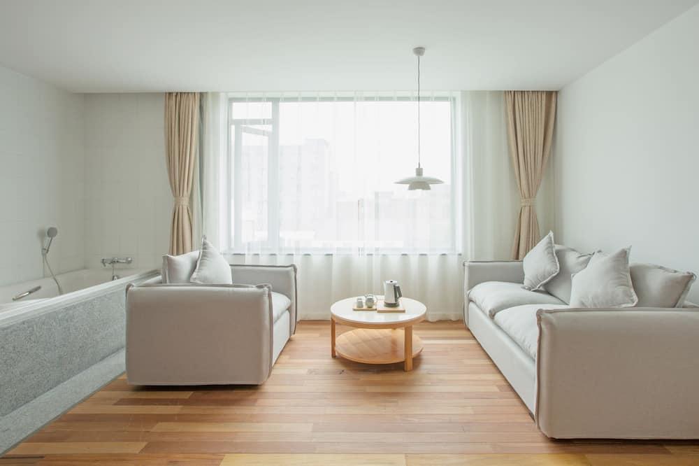 חדר פרימיום זוגי - אזור מגורים