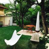 Dvojlôžková izba, výhľad na záhradu - Balkón